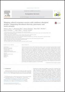 NESP TWQ Project 3.9 Journal Article - doi:10.1016/j.ecoser.2014.10.012